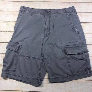 American Rag Gray Cargo Shorts W 36 Relaxed Fit